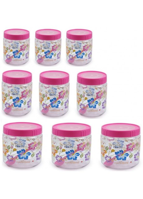 Masterware queen jar 300ml,500ml and 750ml.(Pack of 9)