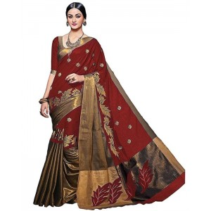 Muta Fashion 0 0 Free Size Georgette saree  Red