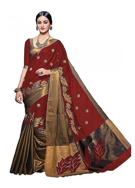 Muta Fashion 0 0 Free Size Georgette saree  Red