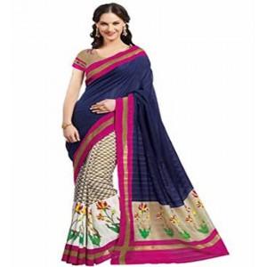 Muta Fashion Bhagalpuri Silk Trendy Women Saree Cream