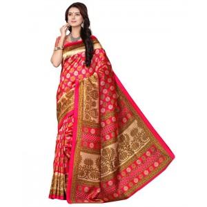 Muta Fashion Art Silk Traditional Women Saree Pink