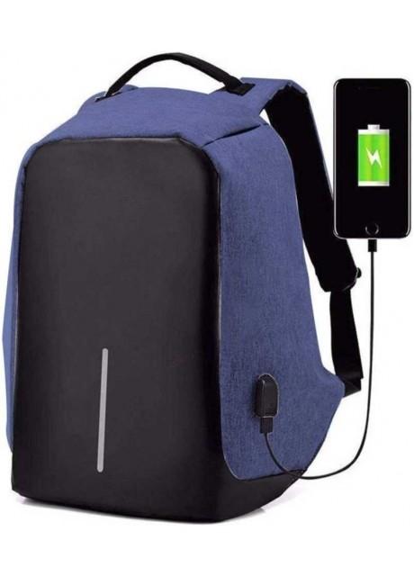Anti theft Laptop Backpack 25.0 L Laptop Backpack  (Black, Blue)