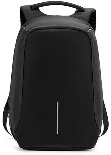 Anti theft Laptop Backpack Black With Sunglasses 21 L Laptop Backpack  (Black)