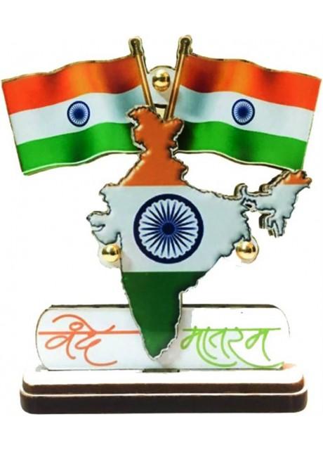 Voila India Rectangle Car Dashboard Flag (Plastic)