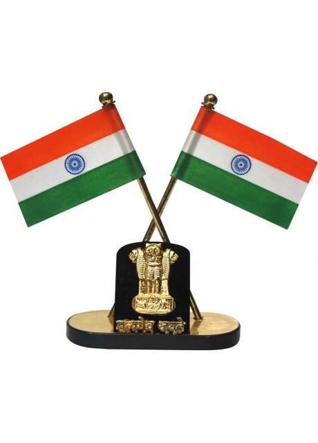 India Wind Car Dashboard Flag