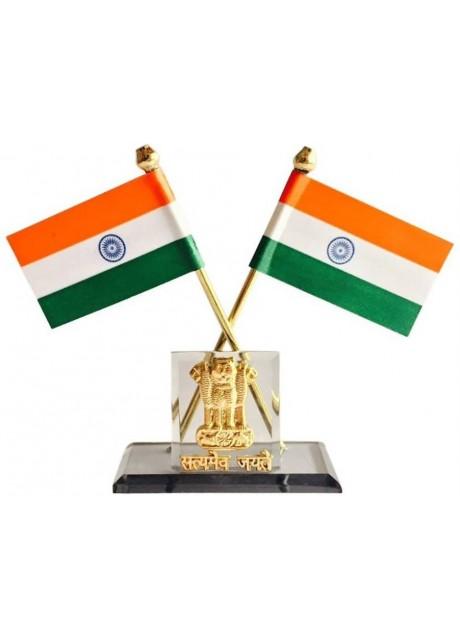 India Rectangle Car Dashboard Flag