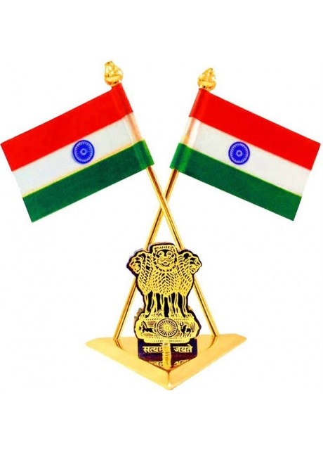 Indian flag Triangle Car Dashboard Flag