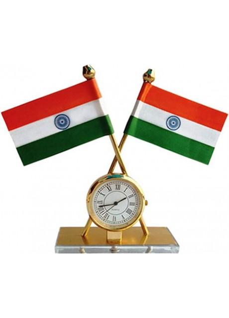 Indian Rectangle Car Dashboard Flag