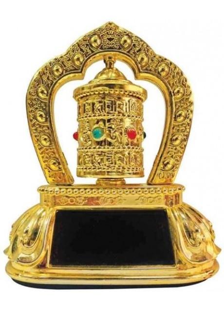 Feng Shui Revolving/Rotating Solar Mani Lotus Prayer Tibetan Buddhist Wheel Ornament For Car Dasboard