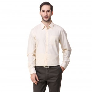 Mind The Gap Yellow Regular Fit Formal Shirt