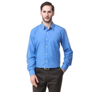Mind The Gap Blue Regular Fit Formal Shirt