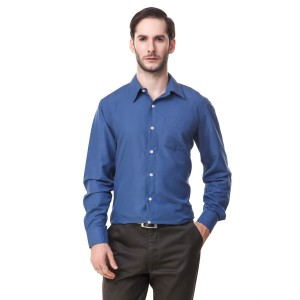 Mind The Gap Dark Blue Regular Fit Formal Shirt