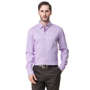 Mind The Gap Purple Regular Fit Formal Shirt