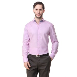 Mind The Gap Pink Regular Fit Formal Shirt