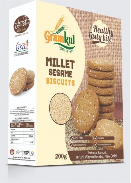 GramKul Millet Sesame Biscuits