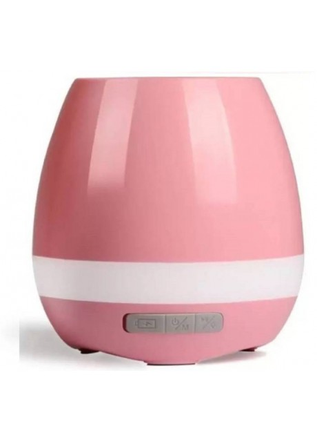 PRAJO Bluetooth Flower Pot Speaker Touch Sensitive Smart Led Colorfull Light Smart Plant Container 3 W Bluetooth Speaker  (Pink, Stereo Channel)