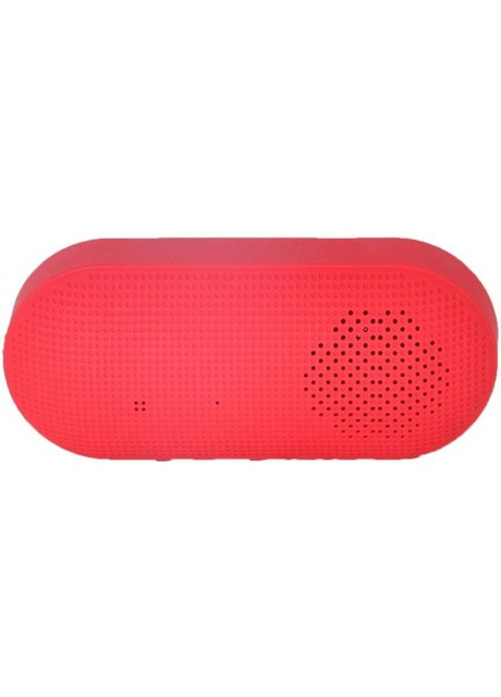 PRAJO Premium Design Portable Bluetooth Speaker 3 W Bluetooth Speaker  (Red, Stereo Channel)