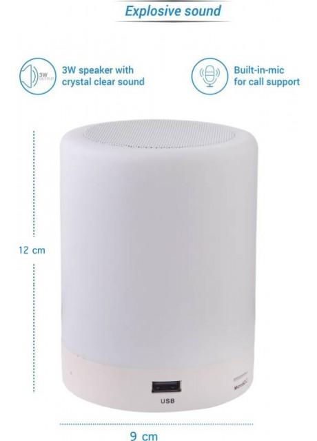 PRAJO Premium Design Portable Bluetooth Speaker 5 W Bluetooth Speaker  (White, Stereo Channel)