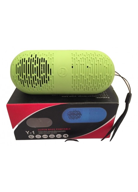 Prajo Super Bass Portable Bluetooth Speaker Y-1 Green