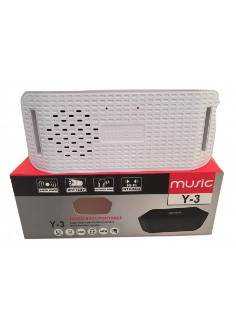 Prajo Super Bass Portable Bluetooth Speaker Y-3 White