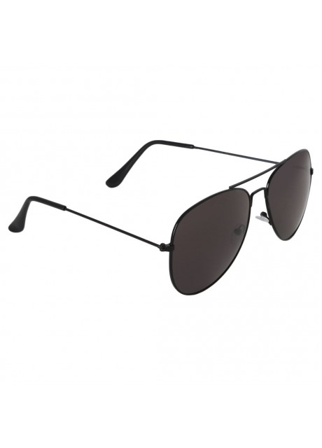 Voila Black Aviator Sunglasses