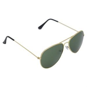 Voila Green Aviator Sunglasses