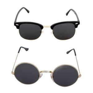 Voila Unisex UV Protection Sunglasses Combo of Black