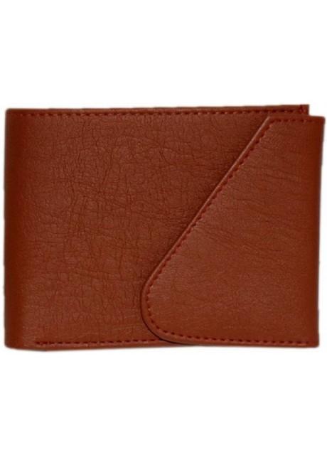 Prajo Men Tan Artificial Leather Wallet