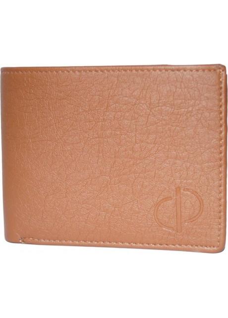 Prajo Men Brown Genuine Leather Wallet