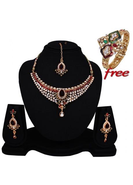 Soni Art  Indian women fashion Necklace Set (0156)