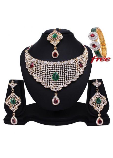 Soni Art  Indian Bridal necklace set (0163)