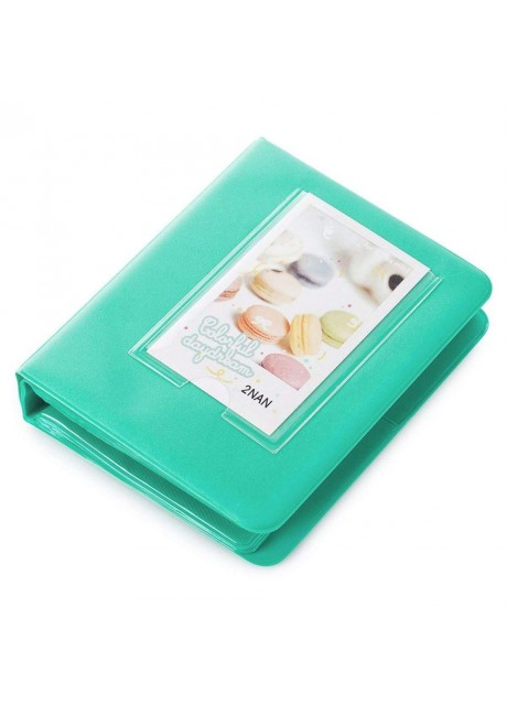 Shopizone Mini 64 Pockets Album for Instax Mini 8/9 / 9+ Accessory Travel Diary to Store Memories - Mint Green