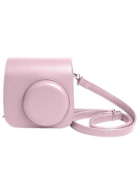 Shopizone Classic Vintage PU Leather Compact Case with Strap for Fujifilm Instax Mini 9/8 /8+ (Baby Pink)