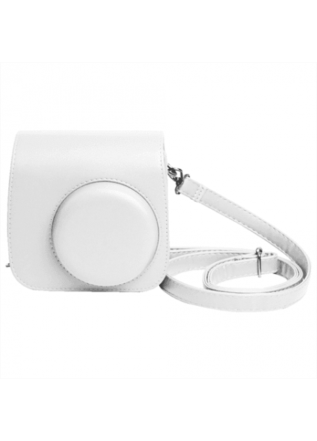 Shopizone Classic Vintage PU Leather Compact Case with Strap for Fujifilm Instax Mini 9/8 /8+ (Smokey White)