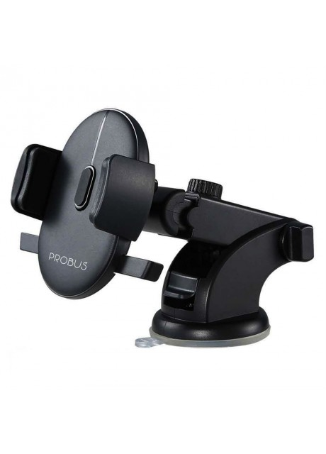 Probus [One Touch Technology] [360 Degree Rotating] [Elongated Neck] Universal Car Mount/Mobile Holder for All Smartphones – Black
