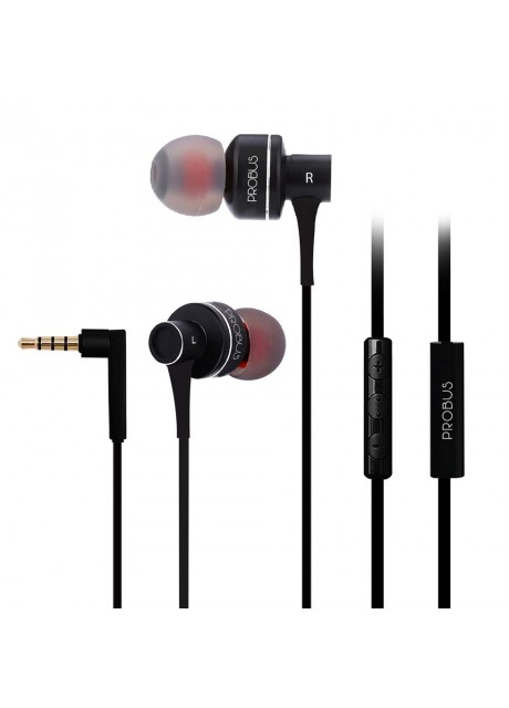 Probus PE1BL In-Ear Headphones with Super Bass And Clear Treble Earphones - Black