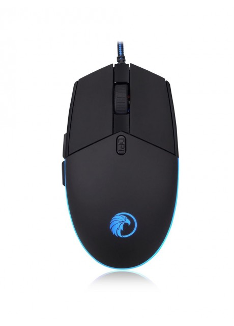 Shopizone M242 Gaming Mouse with 6 Buttons, Adjustable 4800 DPI, Programmable for Laptops, Desktops (Black)