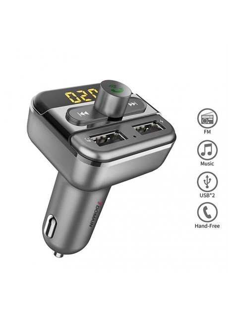 Shopizone BT20 [Dual Port] [USB Support] [Micro SD Reader] [Hi-Fi Stereo][3.4A Fast Charging] Bluetooth Car FM Transmitter/Modulator for All Cars : Black