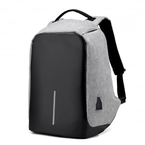 Anti theft Laptop Backpack Grey & Black