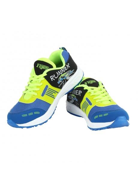 Flyer Royal Blue F. Green Kids Sports Shoes