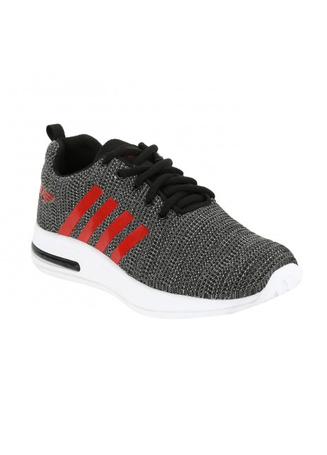 Flyer Kids Knitting Black Light Grey Sports Shoes
