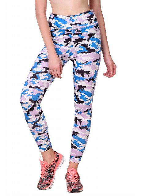 Delta Women Elastic Waist  Printed Casual Slim Fit Ankle Leggings Pants