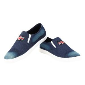 Voila Navy Blue Canvas unisex Shoes ( 6 7 8 9 10) (Navy, White)