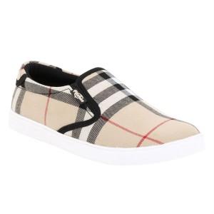 Voila Cream Printed Canvas unisex Shoes ( 6 7 8 9 10)(Cream, White)