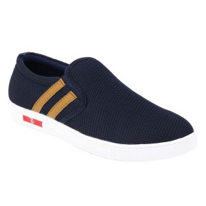 Voila Navy Blue Canvas unisex Shoes ( 6 7 8 9 10)(Navy Blue, White)