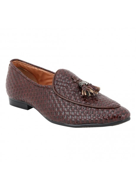 voila Men's brown Leather Casual Crocodile Pattern formal Shoes  ( 6 7 8 9 10) (Brown & Black)