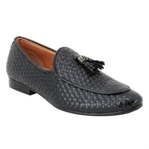 voila Men's black Leather Casual Crocodile Pattern formal Shoes  ( 6 7 8 9 10) (Black )