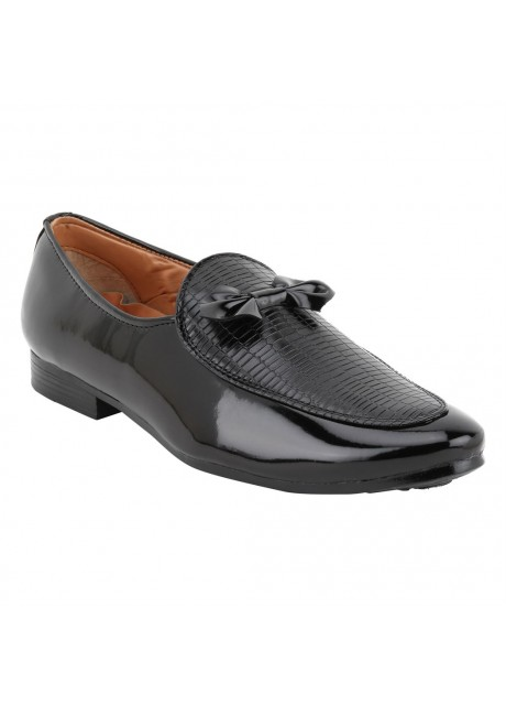 Voila Mens Glossy Black Leather Shiny Patent Formal Shoes